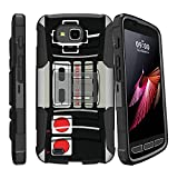 MINITURTLE Case Compatible w/ DualLayer Design Case for [ LG X Calibur, LG X Venture, LG V9][CLIP ARMOR] Shockproof Hard Shell Hybrid Case w/ BuiltIn Stand & Holster Game Controller Retro