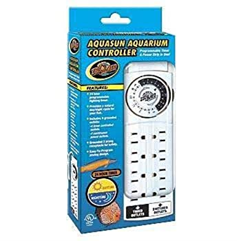 Zoo Med AquaSun Aquarium Controller Timer  Power Strip White
