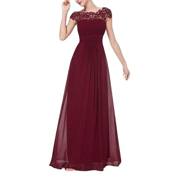Vestidos de Fiesta Boda Dama Mujer Largos Vestido de Noche Talla Grande Vestido Encaje Mujer Vintage Vestidos Sexy Mujer de Elegante Vestido de Novia ...