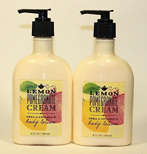 2 Lemon Pomegranate Cream Body Lotion 8 Oz Each (Set of Two) (Lotion Peony Body Scented)