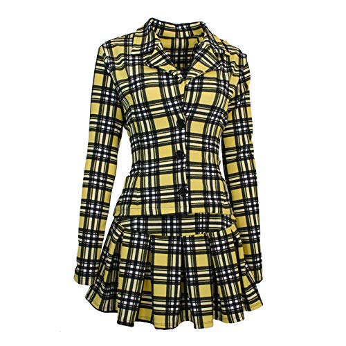 Largemouth Women's Clueless Cher Horowitz Costume Jacket and Skirt (3X/4X)