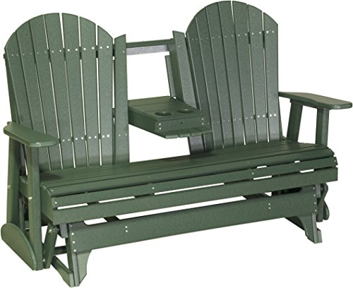 Cheap Furniture Barn USA Poly 5 Foot Porch Glider – Adirondack Design – Green Color