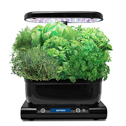 $139.30 Hydroponics Kits AeroGarden Harvest (Classic) with Gourmet Herb Seed Pod Kit, Black 2019