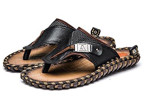 Ciabattine Estate Infradito Uomo Mano Pantofole Black da A WLFHM Fatto Spiaggia da 5xvqww0B