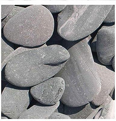 Flat Pebbles verde adorno de grava, 30 – 60 mm, Schöner plana piedra con güner Color, decorativo Grava para el jardín, saco de 20 kg (cantidad mínima Pedidos 15 unidades), piedras, splitt Ornamentales: Amazon.es: Jardín