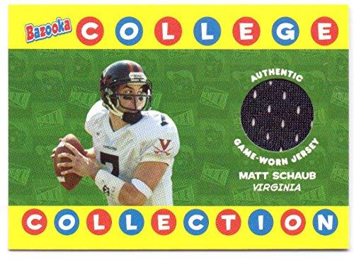 Matt Schaub 2004 Topps Bazooka College Collection College Game Worn Jersey #BCC-MS - Virginia Cavaliers