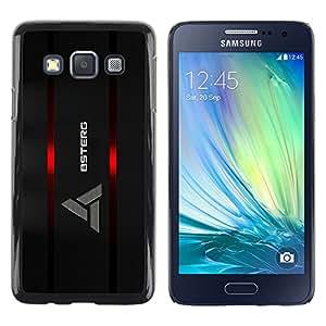 Logo - Metal de aluminio y de plástico duro Caja del teléfono - Negro - Samsung Galaxy A3 / SM-A300