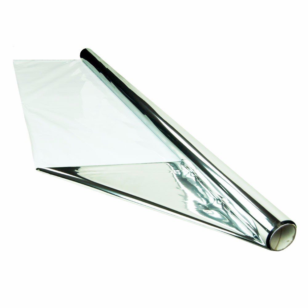 HTGSupply 100 Foot by 4 Foot Super Thick Reflective Mylar On White Poly Roll, 6.7-Mil
