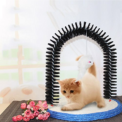 Cat Arch Self Groomer Kitten Massager Scratching Base Deshedding Tool Cat Scratcher Catnip Toy