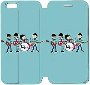 Cuero del tirón de la cubierta del Funda de la PU para el Funda iPhone 6 Plus 5.5 pulgadas del teléfono celular La funda de piel Beatles Comics Q7C5UR Funda iPhone personalizada Deportes