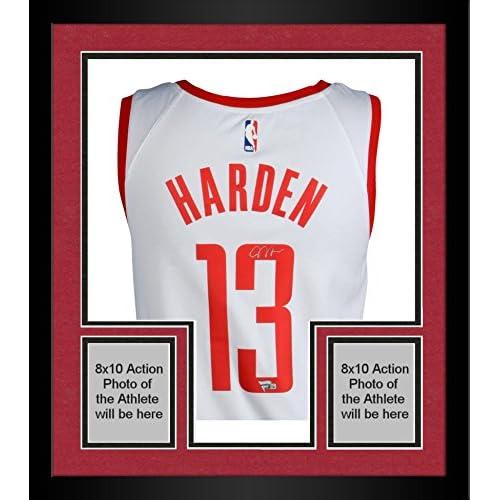 777bff134 Framed James Harden Houston Rockets Autographed Nike White Swingman Jersey  - Fanatics Authentic Certified