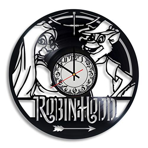 Robin Williams Peter Pan Costume (Robin Hood Disney Vinyl Wall Clock - Robin Hood Baby Gift, Robin Hood Ornament Robin Hood Costume Adult Prince of Thieves Toddler Art)