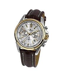 Jacques Lemans Men's Liverpool 44mm Brown Leather Band Quartz Watch 1-1117.1DN