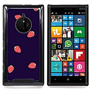Eason Shop / Premium SLIM PC / Aliminium Casa Carcasa Funda Case Bandera Cover - Baies Violet Rouge - For Nokia Lumia 830