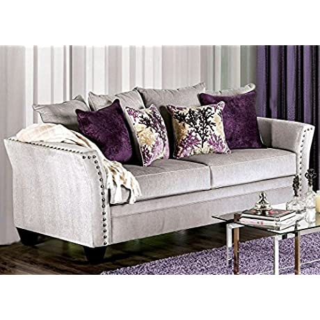 Furniture Of America SM6204 SF Olivier Furniture Silver
