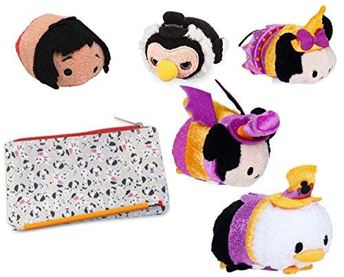 Tsum Halloween Tsum Exclusive Disney Mini Plush Characters Purple Costume Minnie & Mickey Mouse Bat / Donald Duck / Jungle Book / Splash Mountain VULTURE UNDERTAKER + 101 Dalmatians Pouch -