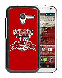 NCAA Sacred Heart Pioneers 6 Black Motorola Moto X Protective Phone Cover Case