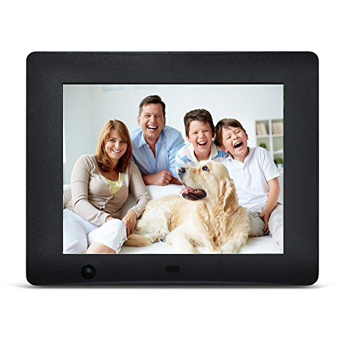 Digital Picture Frame 8-Inches by EMOKILI Digital Photo Frame 1024X768 Resolution with Motion Sensor 720P Video Play
