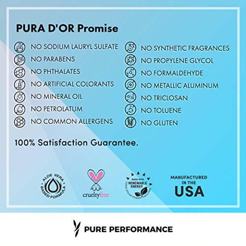 PURA D'OR Hair Thinning Therapy Shampoo for Prevention, Infused with Organic Argan Oil, Biotin & Natural Ingredients, for All Hair Types, Men and Women, 16 Fl Oz (Packaging may vary) by PURA D'OR (Image #4)