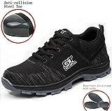 LIDUN Unisex Breathable Steel Toe Shoes Men Steel Toe Boots Womem Steel Toe Sneakers (US Men 9, LD01)