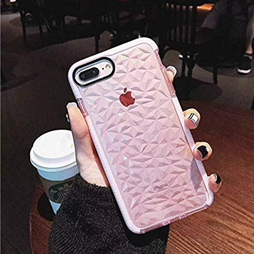 Price comparison product image Keklle Crystal Clear Case,  Ultra Hybrid Case with Air Cushion Technology,  Geometric Clear TPU Drop Protection Cases Cover Compatible for iPhone Case (iPhone 6 / 6s)