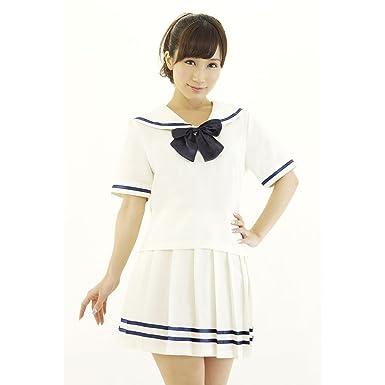 Amazon Com Be With Women S Cream Color School Uniform One Size