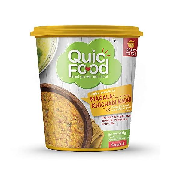 QuicFood Masala Khichadi Khadi Ready to Eat Food Pack of 3