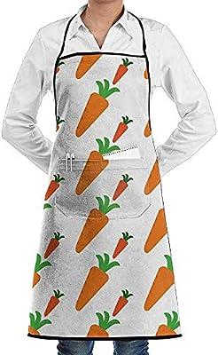Eliuji Kitchen Chef Delantal con Peto Zanahoria Fresca Cuello ...