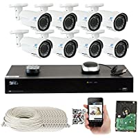 8 Channel H.265 4K 8MP NVR 4-Megapixel (2592 x 1520) Network PoE Security System - 8 x 4MP 1536p @ 30fps Realtime 2.8-12mm Varifocal Zoom POE Weatherproof Bullet IP Cameras, 130ft Night Vision