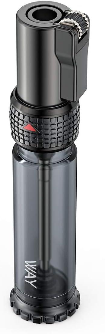 VVAY Turbo Jet Mechero de gas butano recargable, llama ajustable, tanque de gas grande (se vende sin gas