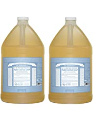 Dr. Bronner's Pure-Castile Liquid Soap - Baby Unscented (1 Gallon - 2 Pack)