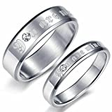 "Alimab Jewelery Stainless Steel His Or Hers Rings Wedding Bands Engrave ""You Are Mine"""