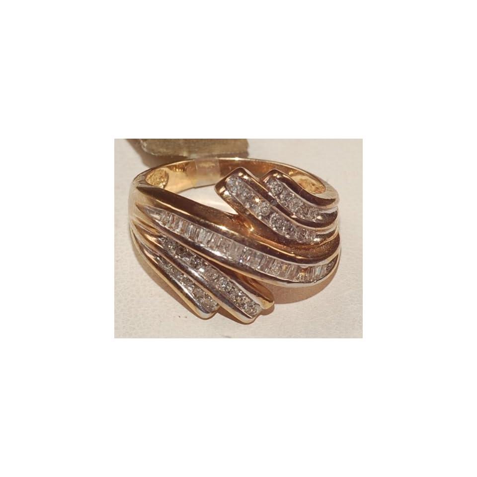 10k Yellow Gold Engagement Diamond Ring Brand New