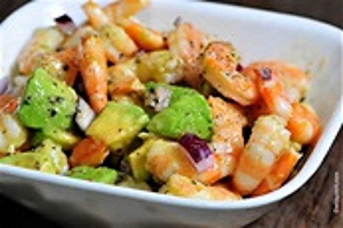 Caribbean Shrimp Salad with Avocado(Guacamole)