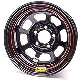 """Bassett 15"""" x 8"""", 5-on-4.75"""", 3 Off IMCA Black Wheel 58DC3I"""