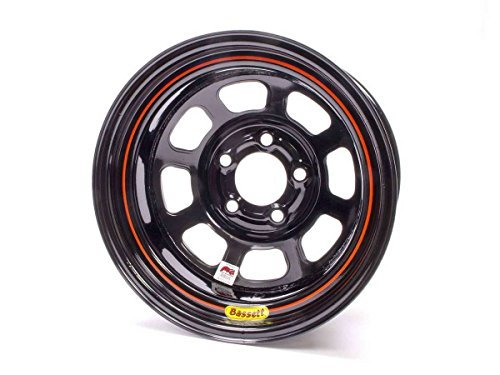 Bassett D-Hole 15x8 in 5x4.75 Black Wheel Rim P/N 58DC2I ()