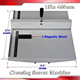 Manual 18'' 460mm Scoring Paper Creasing Machine Scorer Creaser + 2magnetic Block