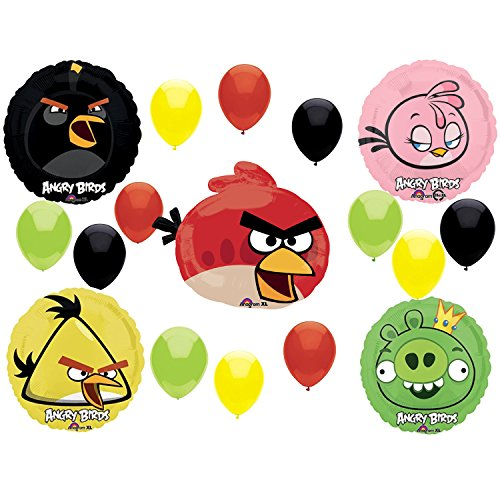 Angry Birds Birthday Party Supplies and Red Bird Balloon Decorations