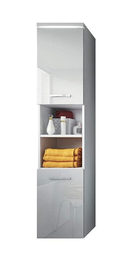 Mobiletto Paso 160 cm Altezza Bianco Lucido, armadio armadio mobili ...