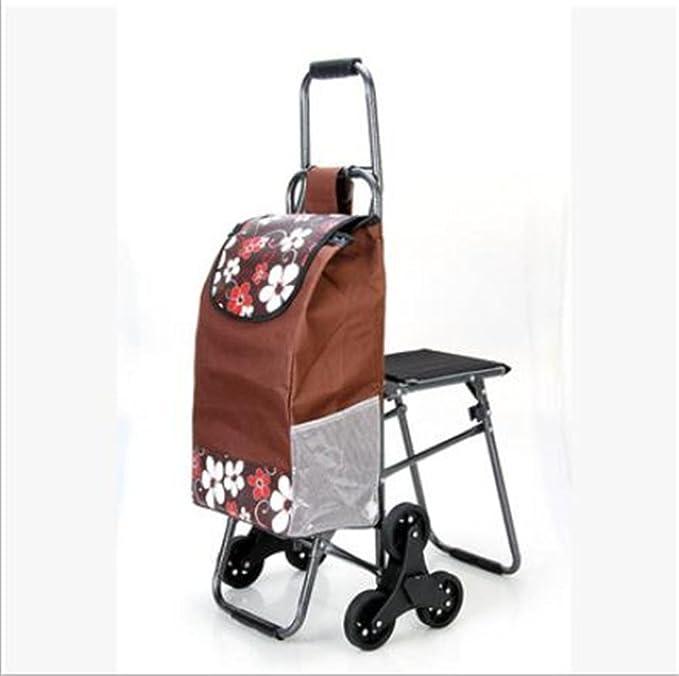 FFJTS Carro de la compra que sube el carro plegable del equipaje Carro portátil con los vectores y las sillas , H: Amazon.es: Hogar