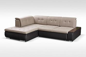 Togo Grande Tela y Piel sintética sofá Cama sofá de Esquina ...