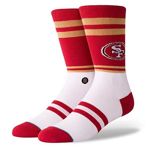 Stance M558C1849S Men's 49Ers Logo Sock, Red - Medium (6-8.5)