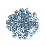 Hemobllo 50PCS Stainless t-Nuts for Wood Rock Climbing Holds cabinetry Furniture