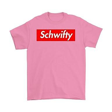 Amazon.com: Schwifty Shirt Supreme Logo Parody Get Schwifty Mens T ...
