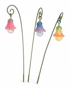 Miniature Fairy Garden Glow In The Dark Glow Flowers Set of 3
