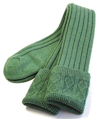 (Boys Standard Kilt Hose Socks (Lovat Green, Large))