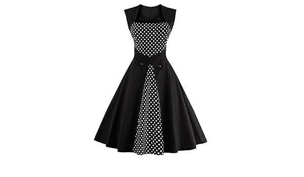 Grace Kalin - Vestido de verano, años 50, Vintage, Retro, sin mangas, para Fiesta o Cóctel, tipo rockabilly/swing Polka Dot Black XXL: Amazon.es: Bricolaje ...