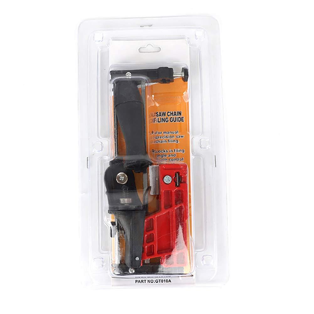 TREA2SURE herramienta de afilado de cadena abrazadera de motosierra en cadena afiladora manual peque/ña gu/ía soporte de perforaci/ón