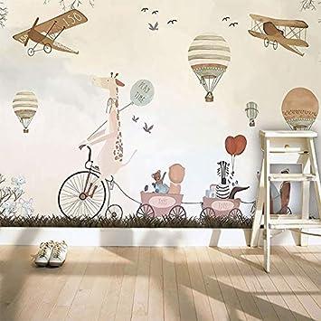 Shukun Wandbild 3d Fototapete Cartoon Hand Gezeichnet Heißluftballon