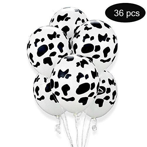 36 Cow Print Balloons 12